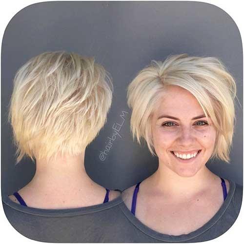 Cute-Layered-Bob Striking Short Hair Ideas for Blondies