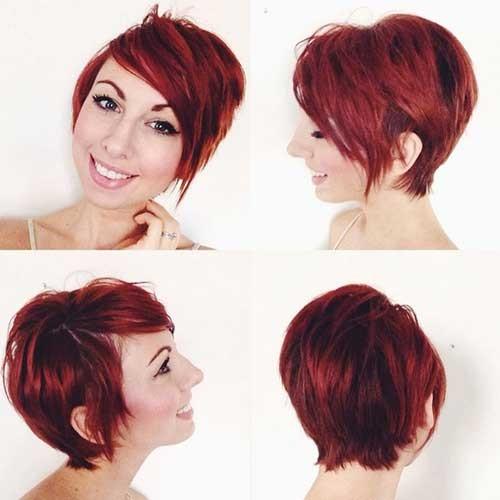 Cute-Long-Red-Pixie-Cut Long Pixie Haircuts