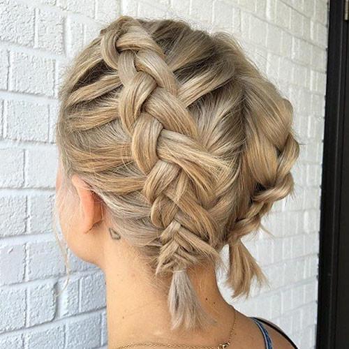 Cute-Short-Hair Best French Braid Short Hair Ideas 2019