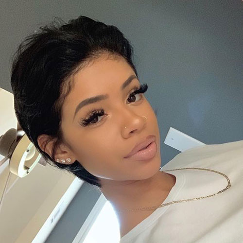 Cute-Short-Hairstyle In Style Short Haircuts for Black Women
