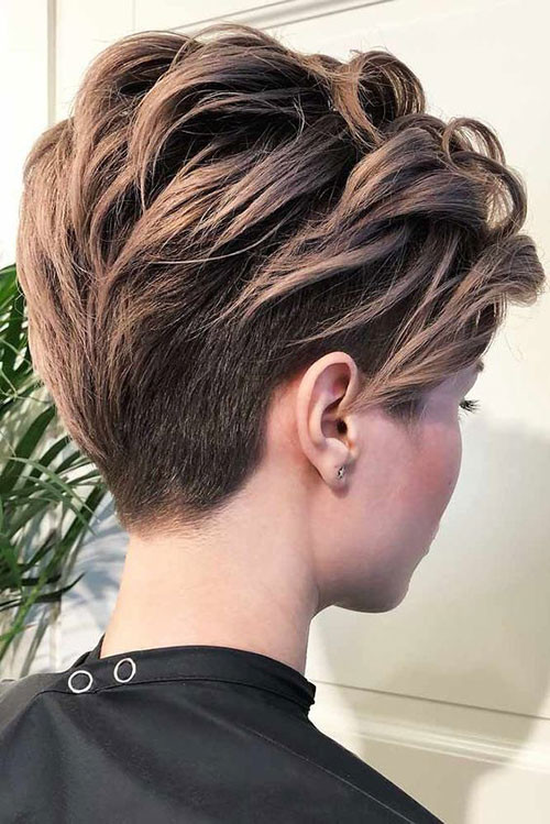 Dark-Blonde-Pixie Trendy Hair Colors for Short Hair for Ladies