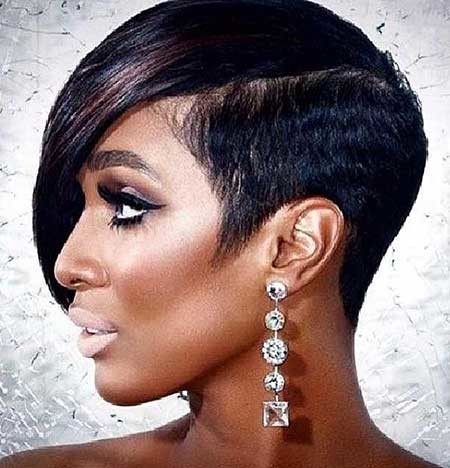 Dramatic-Sexy-Interesting-Hair Hairstyles for Black Women with Short Hair