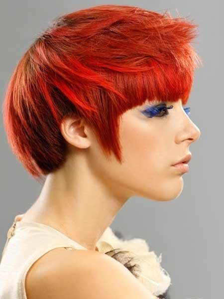 Fiery-Pixie-Cut-with-Awesome-Orange-and-Red-Combination Hair Color for Short Hair 2019