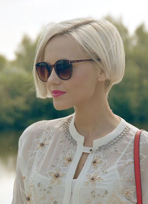 Fine-Straight-Hair Various Short Blonde Bob Hairstyles