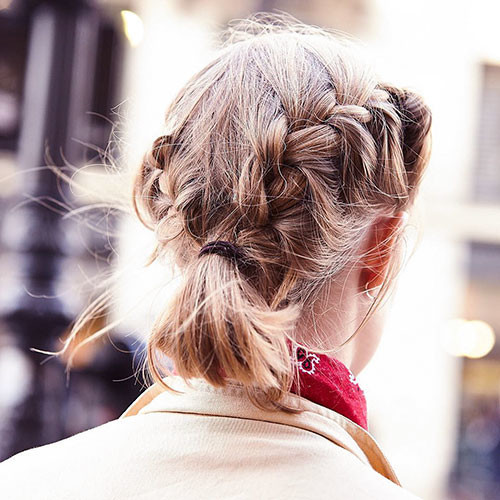 French-Braid-Hairstyles-For-Short-Hair Best French Braid Short Hair Ideas 2019