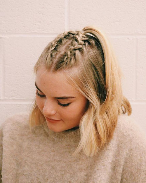 French-Braid-Short-Hair-3 Best French Braid Short Hair Ideas 2019