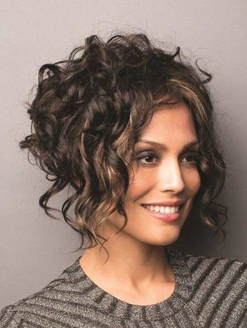 Graduated-Bob-Cut-for-Curly-Hair Curly Bob Hairstyles for Chic Women