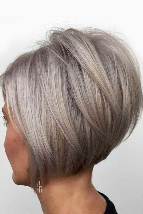 Graduated-Bob-Style Flattering Layered Short Haircuts for Thick Hair