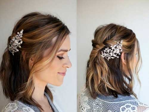 Hair-Accessory-for-Short-Hair Best Short Hairstyles for Wedding You Should See