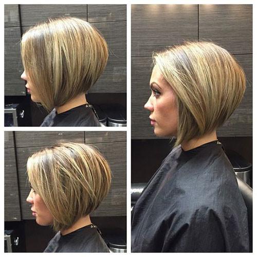 Inverted-Cut Various Short Blonde Bob Hairstyles