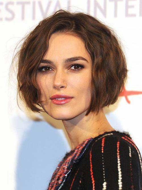 Keira-Knightley-Short-Hair Eye-Catching Short Hairstyles in 2019 for Wavy Hair