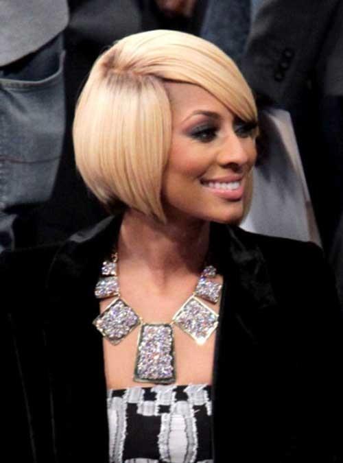 Keri-Hilson-Blonde-Side-Swept-Bob-Hairstyle-with-Dark-Roots Keri Hilson Blonde Bob Hairstyles