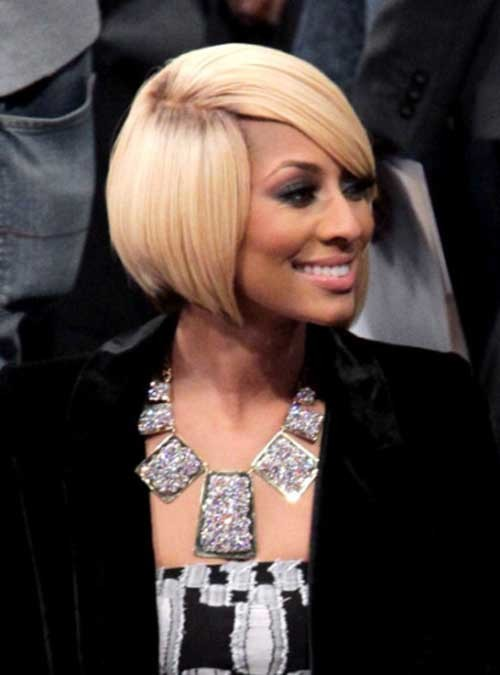 Keri-Hilson-Blonde-Side-Swept-Bob-Hairstyle-with-Dark-Roots Keri Hilson Blonde Bob Hairstyles