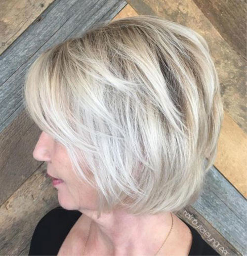 Layered-Bob-Hairstyle-for-Over-50 Best Short Haircuts for Women Over 50
