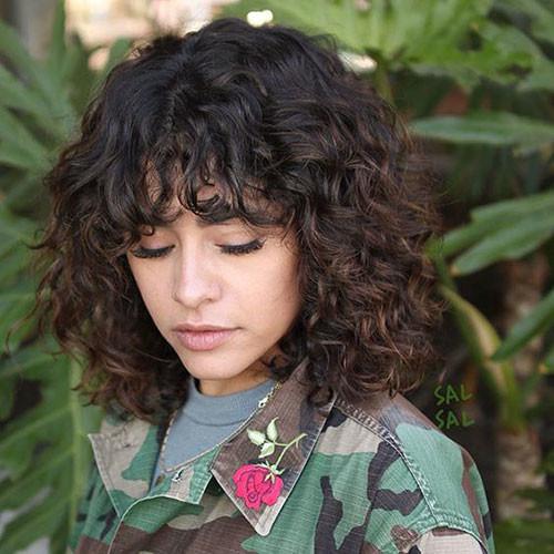 Layered-Short-Curly-Hair Elegant Short Haircuts for Thick Hair