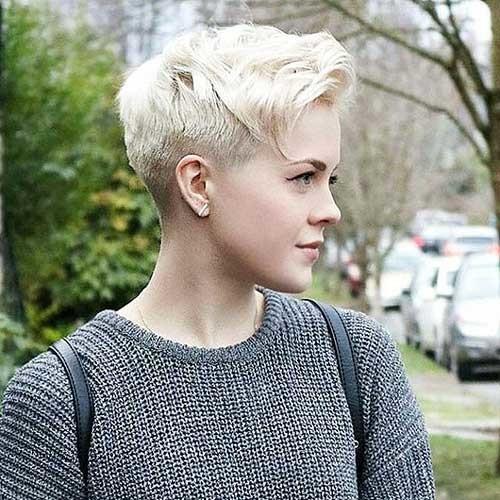 Lovely-Pixie Striking Short Hair Ideas for Blondies