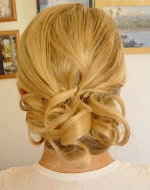 Low-Bun-hairstyles-short-hair Short Wedding Hair Ideas