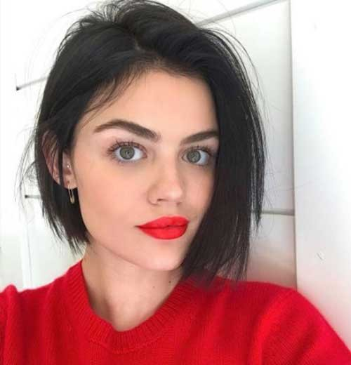 Lucy-Hale-Short-Haircut Asymmetrical Short Haircuts for Fabulous Look