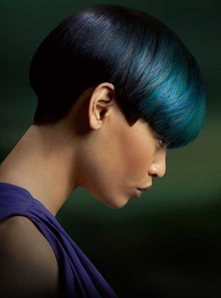 Nice-and-Sleek-Pixie-Cut-with-Different-Hues-of-Blue Hair Color for Short Hair 2019