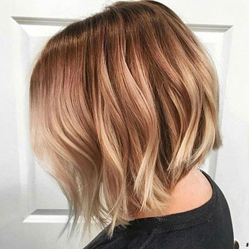 Ombre-Color Trendy Hair Colors for Short Hair for Ladies