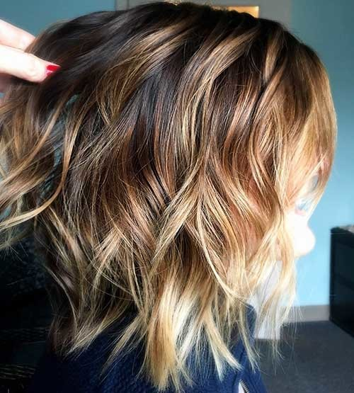 Ombre-Layered-Bob Most Magnetizing Hairstyles for Curly and Wavy Hair
