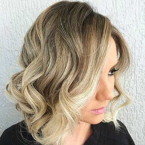 Ombre-Style-for-Bob Most Magnetizing Hairstyles for Curly and Wavy Hair