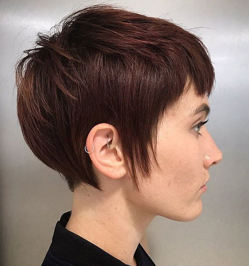 Pixie-Cut-1 Short Brown Hairstyles for Fashionable Women