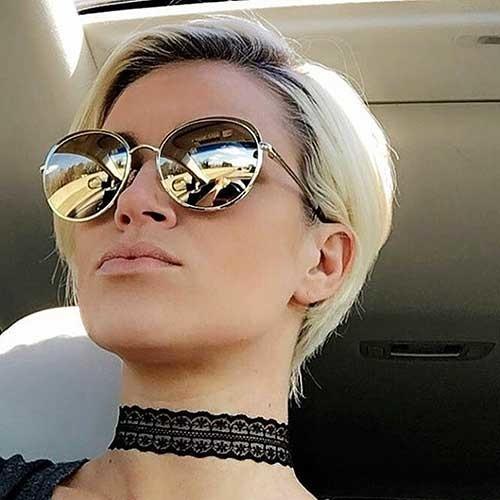 Pixie-with-Dark-Roots Striking Short Hair Ideas for Blondies
