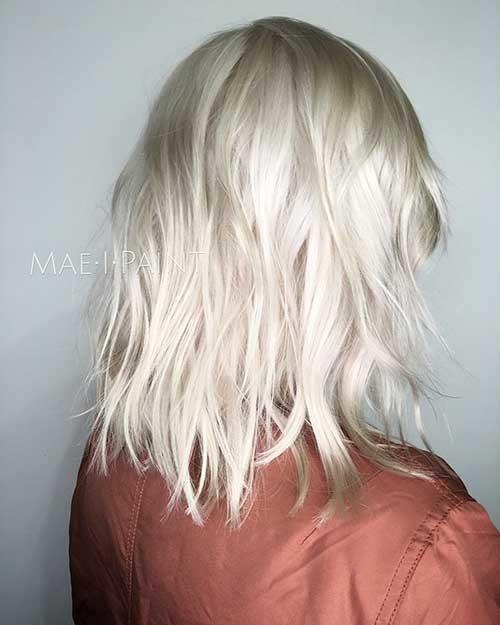 Platinum-Blonde-Lob Striking Short Hair Ideas for Blondies