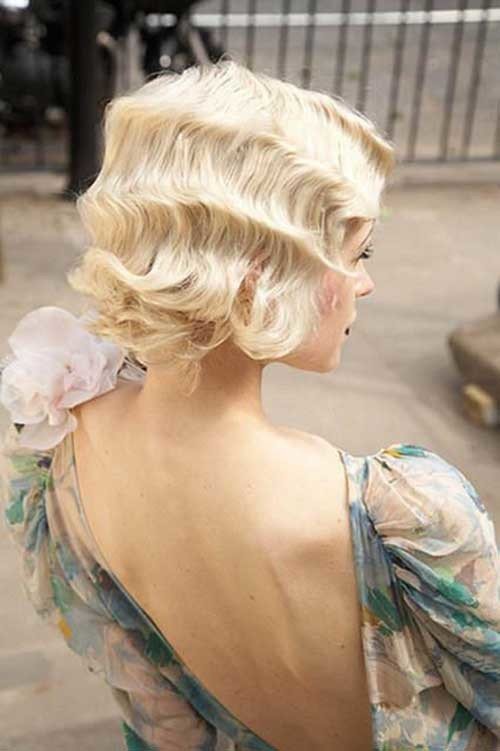Retro-Hairstyle Best Short Hairstyles for Wedding You Should See