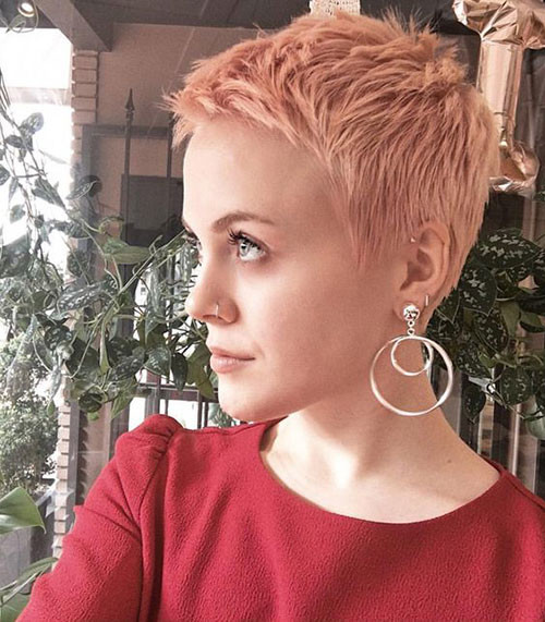 Rose-Gold-Pixie-Cut Short Pixie Haircuts for Pretty Look