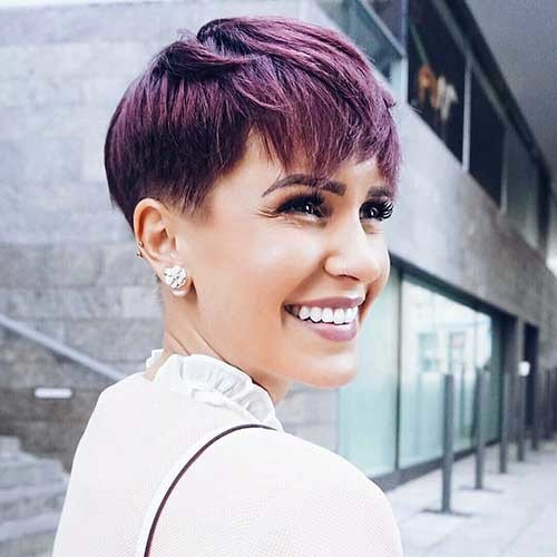 Shaved-Side Chic Short Hair Ideas with Bangs