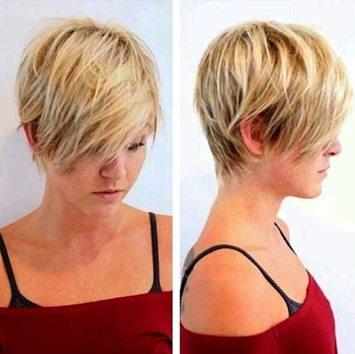 Short-Blonde-Layered-Thin-Hair Womens Short Hairstyles for Thin Hair