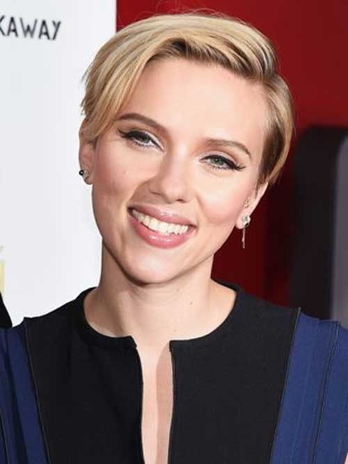 Short-Cute-Blonde-Pixie-Style Womens Short Hairstyles for Thin Hair