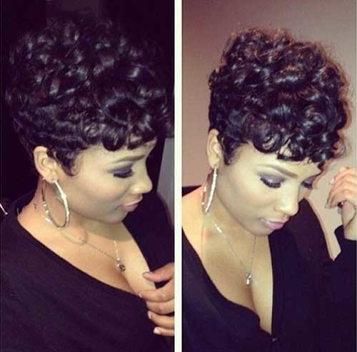 Short-Easy-Dark-Curly-Hairstyle Easy Hairstyles For Short Curly Hair