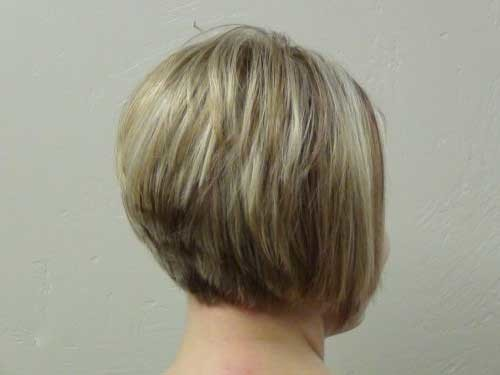 Short-Hair-Stacked-Cut-Back-View Short stacked haircut