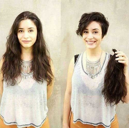 Short-Hair-with-Longer-Side Before and After Pics of Short Haircuts