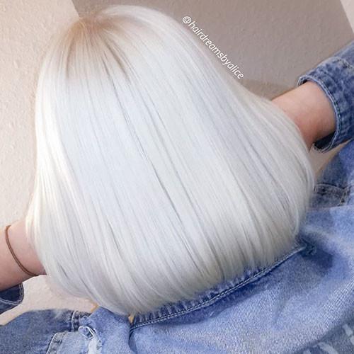 Short-Hairstyles-For-White-Hair New Short White Hair Ideas 2019