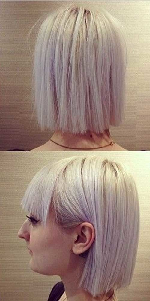 Short-Incredibly-Straight-Bob Womens Short Hairstyles for Thin Hair