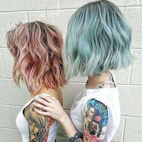 Short-Light-Blue-Hair Popular Short Blue Hair Ideas in 2019