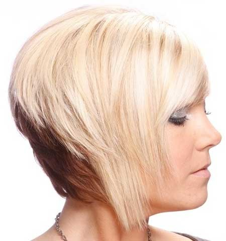 Short-Two-Color-Original-Looking-Bob Short blonde hairstyles