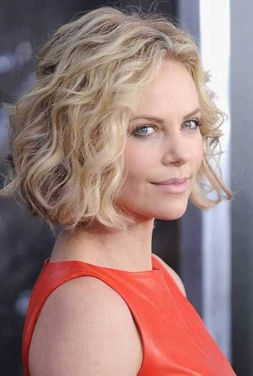 Short-Wavy-Curly-Haircut-for-Beauty-Round-Faces Short Wavy Hairstyles for Round Faces