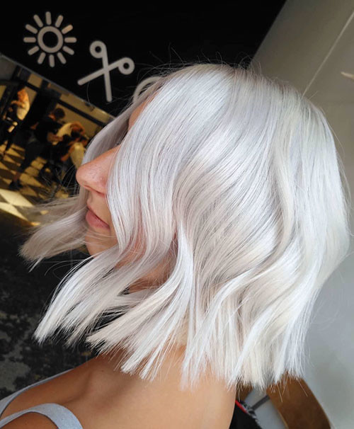 Short-White-Hairstyle New Short White Hair Ideas 2019