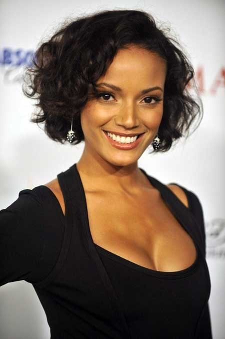 Short-black-curly-hair Short Trendy Curly Haircuts