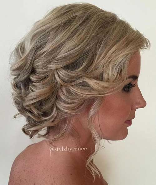 Special-Updo-Style Simple Short Hairstyles for Pretty Women