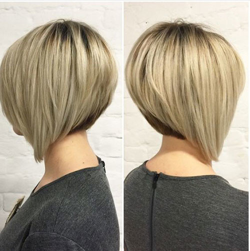 Stacked-Bob-1 Elegant Short Haircuts for Thick Hair