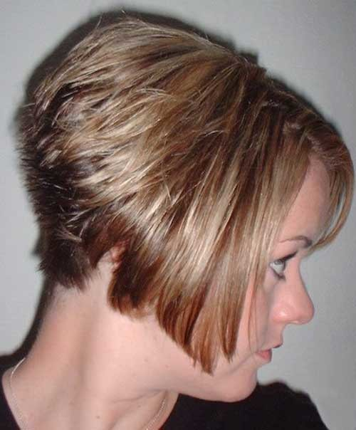 Straight-Inverted-Short-Stacked-Haircut Short stacked haircut