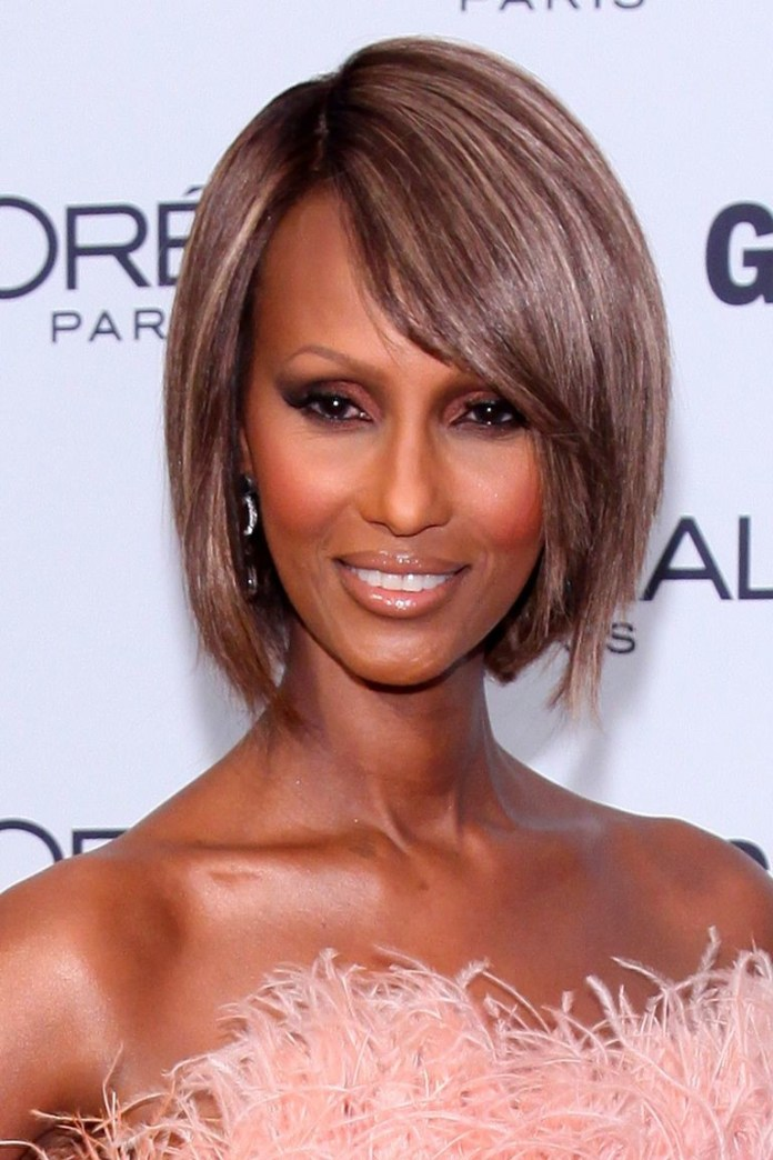Straight-and-Shiny-Bob Best Short Hairstyles for Black Women