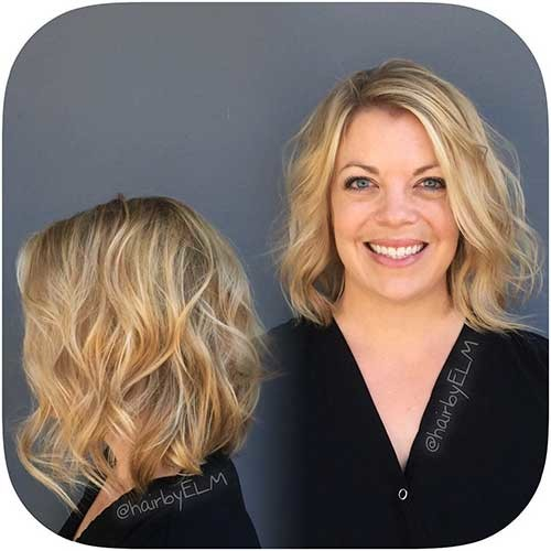 Sun-Kissed-Balayage Most Magnetizing Hairstyles for Curly and Wavy Hair