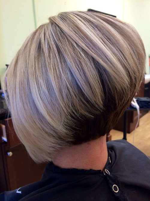 Thick-Graduated-Short-Hair Elegant Short Haircuts for Thick Hair